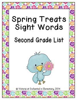 Spring Treats Sight Words! Second Grade List Edition