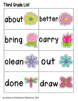 Spring Treats Sight Words! Third Grade List Edition