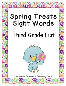Spring Treats Sight Words! Third Grade List Edition