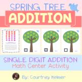 Spring Tree Addition Math Center Activity
