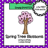 Spring Tree Blossoms Writing Cut and Paste Craftivity