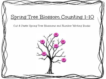 Spring Tree Bud Counting, Cutting, Gluing & Writing