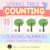 Spring Tree Counting Math Center Activity