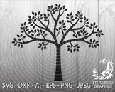 Spring Tree SVG, Instant Download, Vector, Commercial Use SVG, Silhouette SVG, S