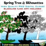 Spring Trees Clip Art for Personal and Commercial Use