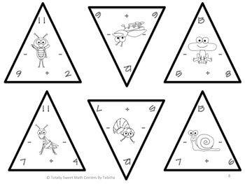 Spring Triangles- Addition and Subtraction to 20 Edition 1.OA.6