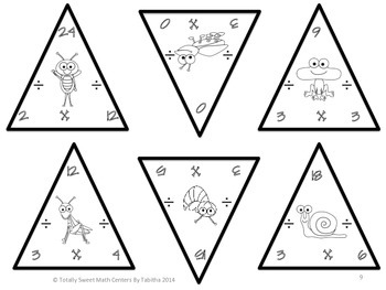 Spring Triangles- Multiplication and Division Edition Facts 0-12