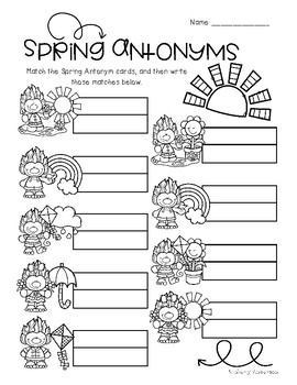 Spring Trolls: Antonyms Match Center (Basic)