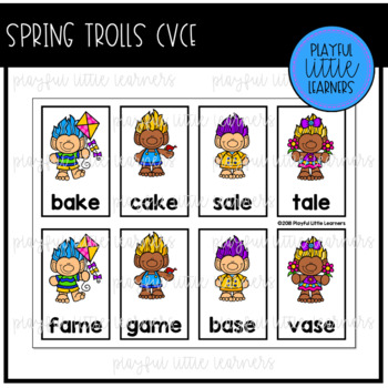 Spring Trolls CVCe Words