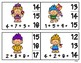 Spring Troll Clip Cards - 3 addend addition make a 10