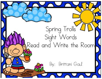 Spring Trolls Sight Word Read and Write the Room