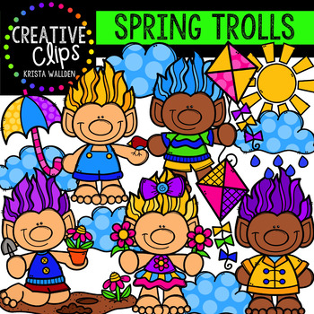 Spring Trolls: Spring Clipart {Creative Clips Clipart}