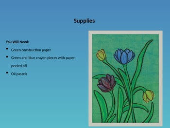 EASY to Teach! Spring Tulip Art Project, Step-By-Step w/ Printable Practice Page