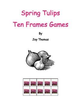 Spring Tulips Ten Frames Games