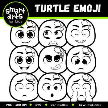 Spring Turtle Emoji Clip Art