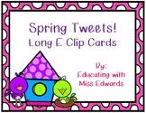 Spring Tweets! Long E Clip Cards