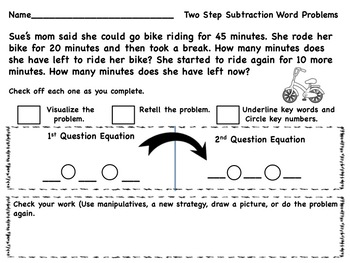 Spring Two Part and MultiStep Word Problems