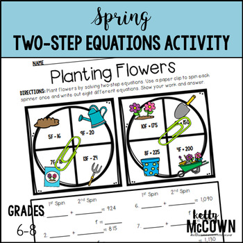 Spring Two-Step Equation Activity