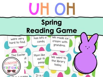 Spring Uh Oh Sentence Game
