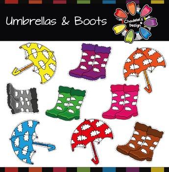 Spring Umbrellas & Boots