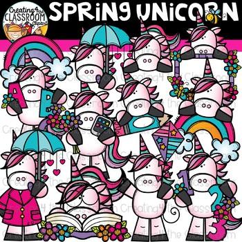 Spring Unicorn Clipart {Unicorn Clipart}