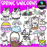 Spring Unicorns Clip Art Set {Educlips Clipart}
