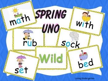 Spring Uno CVC Words