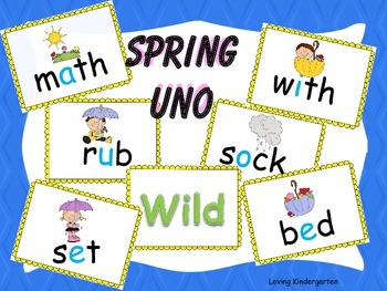 Spring Uno CVC Words