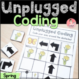 Spring Unplugged Coding Activity for Beginners (English an