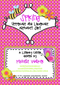 Spring Uppercase and Lowercase Alphabet Sort