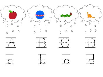 Spring Uppercase and Lowercase Letters