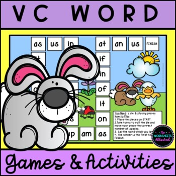 Spring VC Word Games and Activities