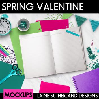Spring Valentine Styled Mockups {Desk Scenes}