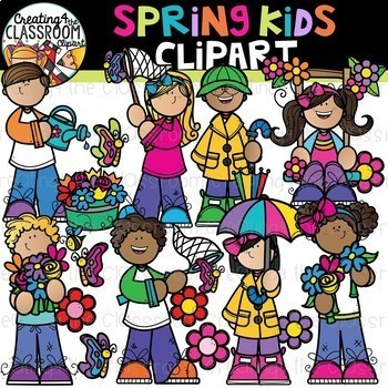 Spring Variety Clipart Growing Bundle {Spring Clipart}