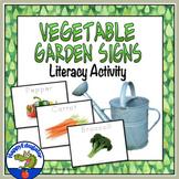 Spring Activity - Vegetable Garden Signs