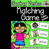 Spring Verbs Matching Game & Poster
