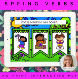 Spring Verbs NO PRINT Interactive PDF