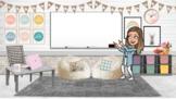 Spring Virtual Bitmoji Classroom