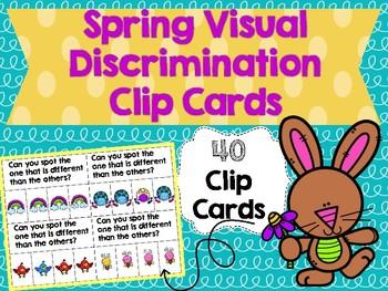 Spring Visual Discrimination Clip Cards