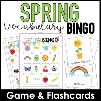 graphic relating to Spring Bingo Game Printable called Spring Vocabulary Bingo Sport Flashcards