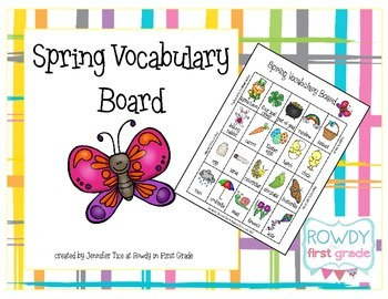 Spring Vocabulary Board