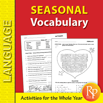 Seasonal Vocabulary-Builder for the Whole Year
