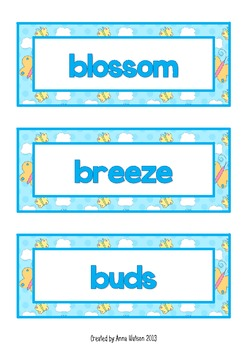 Spring Vocabulary Bundle