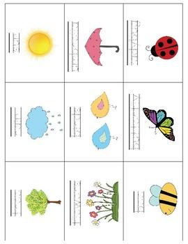 Spring Vocabulary Cards - Great for ESL/ENL