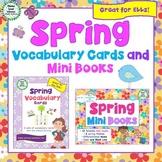 Spring Vocabulary Cards and Mini Books BUNDLE