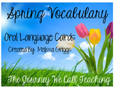 Spring Vocabulary Cards for Oral Language Development
