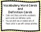 Spring Vocabulary ELA Pack