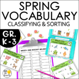 Vocabulary Activities: Spring Vocabulary Games, Word Sorts
