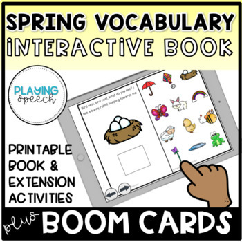 Spring Vocabulary Interactive Book and Activities