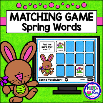 Spring Vocabulary Interactive Matching Game for PowerPoint - FREE